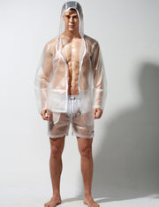 Translucent Windbreaker Hooded Jacket / Shorts
