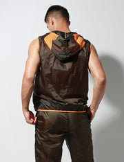Translucent Quick-Dry Sport Sleeveless Hooded Jacket S2901