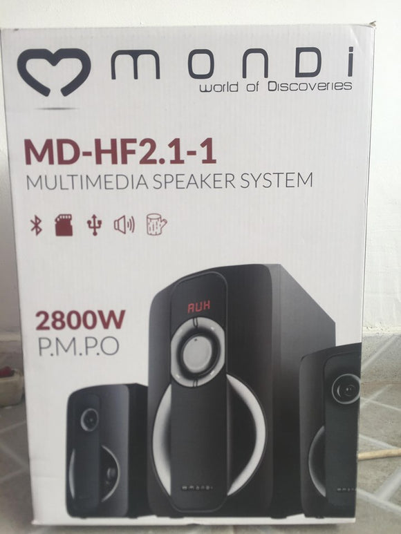 MONDI MD-HF2.1-1 MULTIMEDIA SPEAKER SYSTEM - NOVO