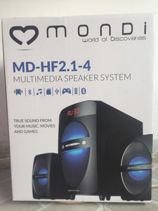MONDI MD-HF2.1-4 MULTIMEDIA SPEAKER SYSTEM - NOVO