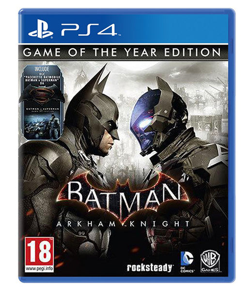 BATMAN ARKHAM KNIGHT GAME OF THE YEAR EDITION - NOVO - PS4 - ENCOMENDA -