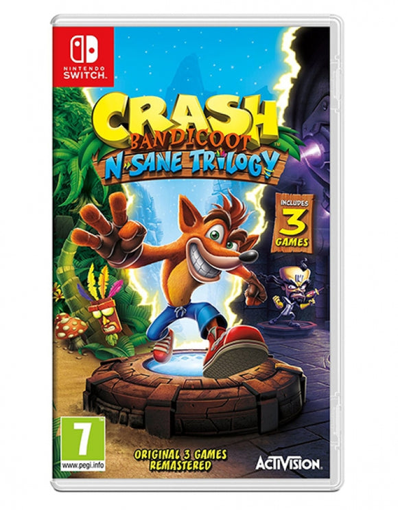 CRASH BANDICOOT N SANE TRILOGY - NOVO - NINTENDO SWITCH - ENCOMENDA -
