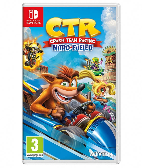 CRASH TEAM RACING NITRO FUELED - NOVO - NINTENDO SWITCH - ENCOMENDA -