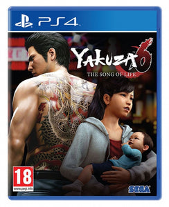 YAKUZA 6 THE SONG OF LIFE HITS - NOVO - PS4 - ENCOMENDA -