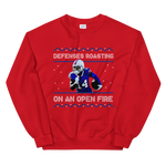 Defenses Roasting Ugly Sweater, Red/Blue/White