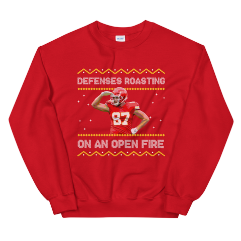 Defenses Roasting Ugly Sweater, Red/Yellow/White