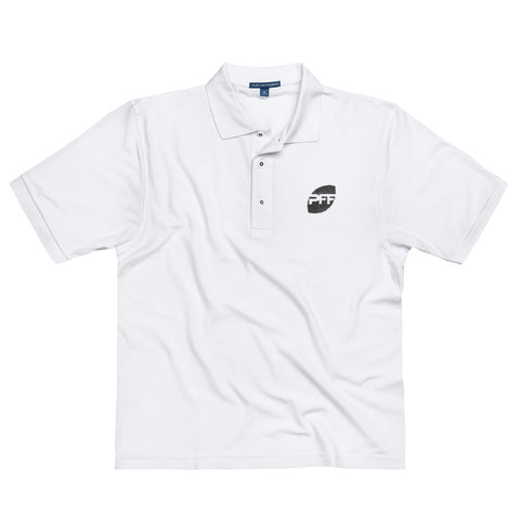Pro Football Focus Premium Embroidered Polo (White)