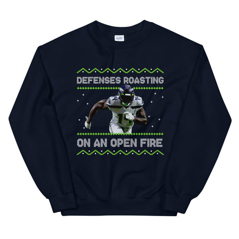 Defenses Roasting Ugly Sweater, Navy/Volt