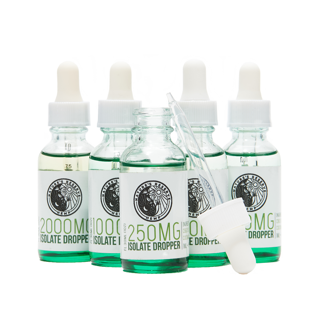 250 MG CBD Isolate Tincture Oil Droppers - Terpene Infused