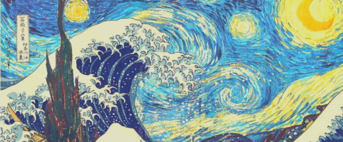tableau van gogh vague