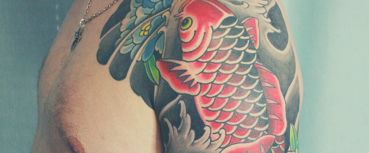 Tatouage Carpe Koi
