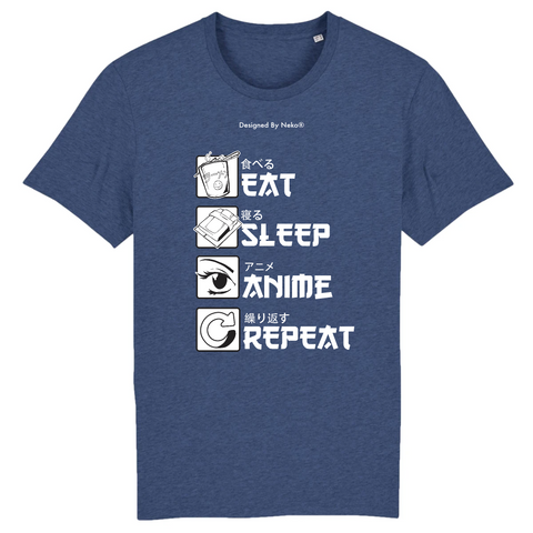 T-Shirt Eat Sleep Anime Repeat
