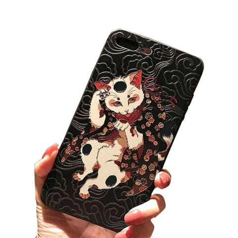 Coque Chat iPhone 11 | Ambiance Japon©