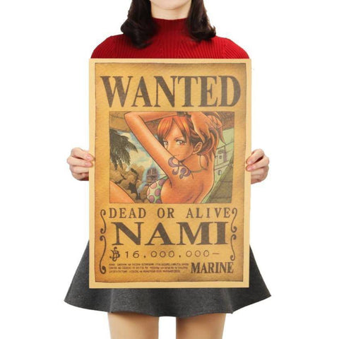 Poster Wanted Nami | Ambiance Japon©