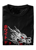 T-Shirt Japonais <br/> Dragon Blanc