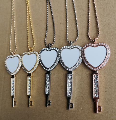 Key to my Heart Sublimation Necklaces