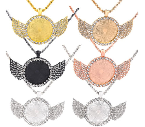 Mini Bling Angel Wings