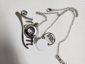 MOM snap - button necklace or Keychain