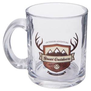 10 oz. Sublimatable Blank Clear & Frosted Glass Mug with Handle