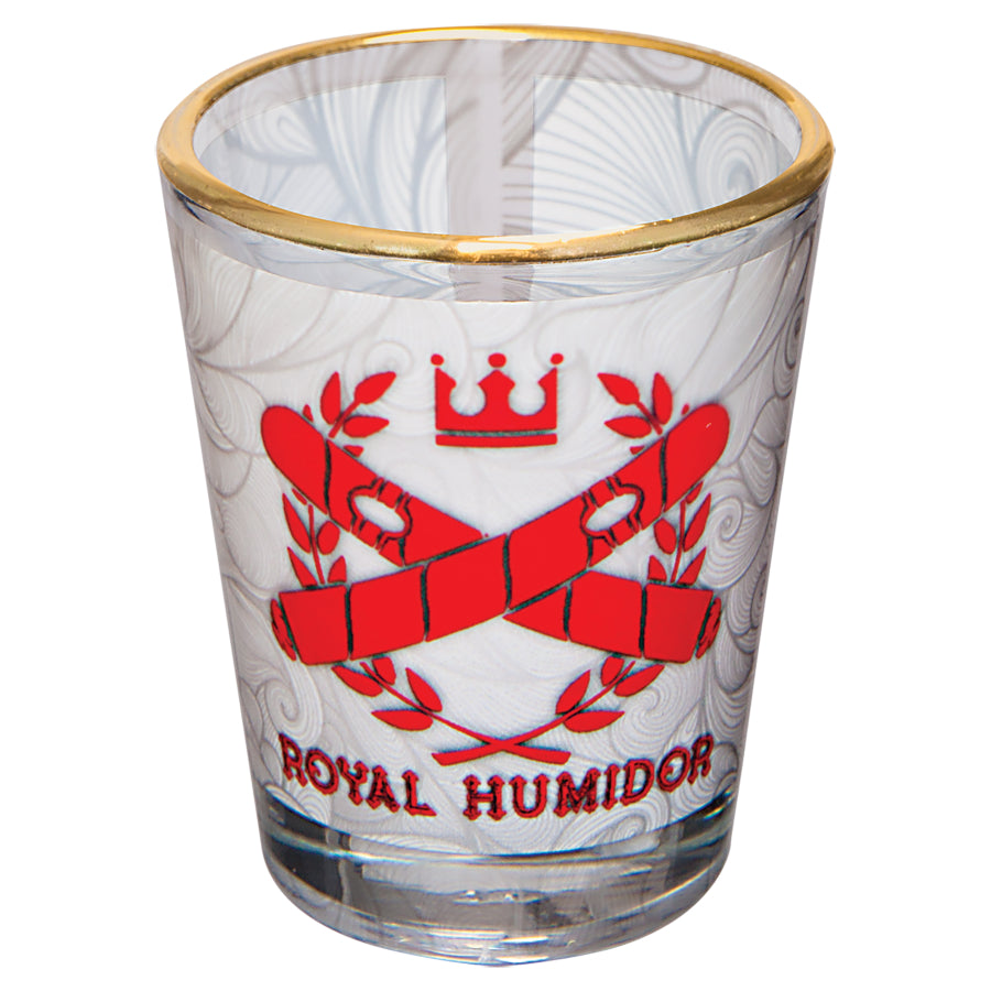 1 1/2 oz. Sublimatable Shot Glass with Gold Rim