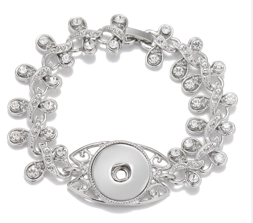 Rhinestone Snap-Button Bracelet