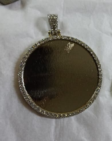 Ex large Circle Necklace with Rhinestones