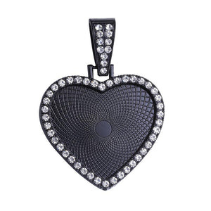 Ex-large Heart with Rhinestones and thick necklace