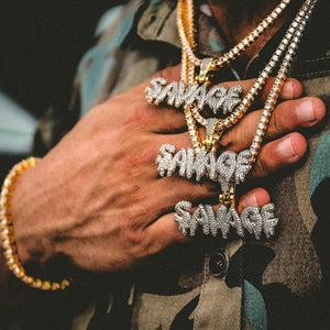 Savage Iced Out Hip Hop Chain