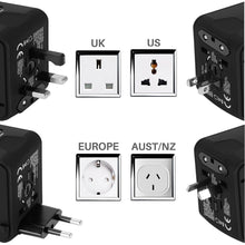 Load image into Gallery viewer, Universal USB Travel Power Adapter
