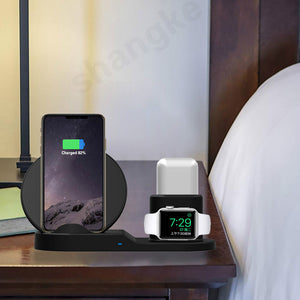 Wireless Charger Dock Station 3 In 1