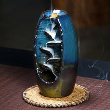 Load image into Gallery viewer, Ceramic Backflow Waterfall Smoke Incense Burner