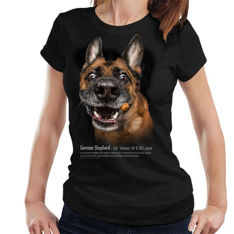 German Shepherd Definition Ladies T-Shirt