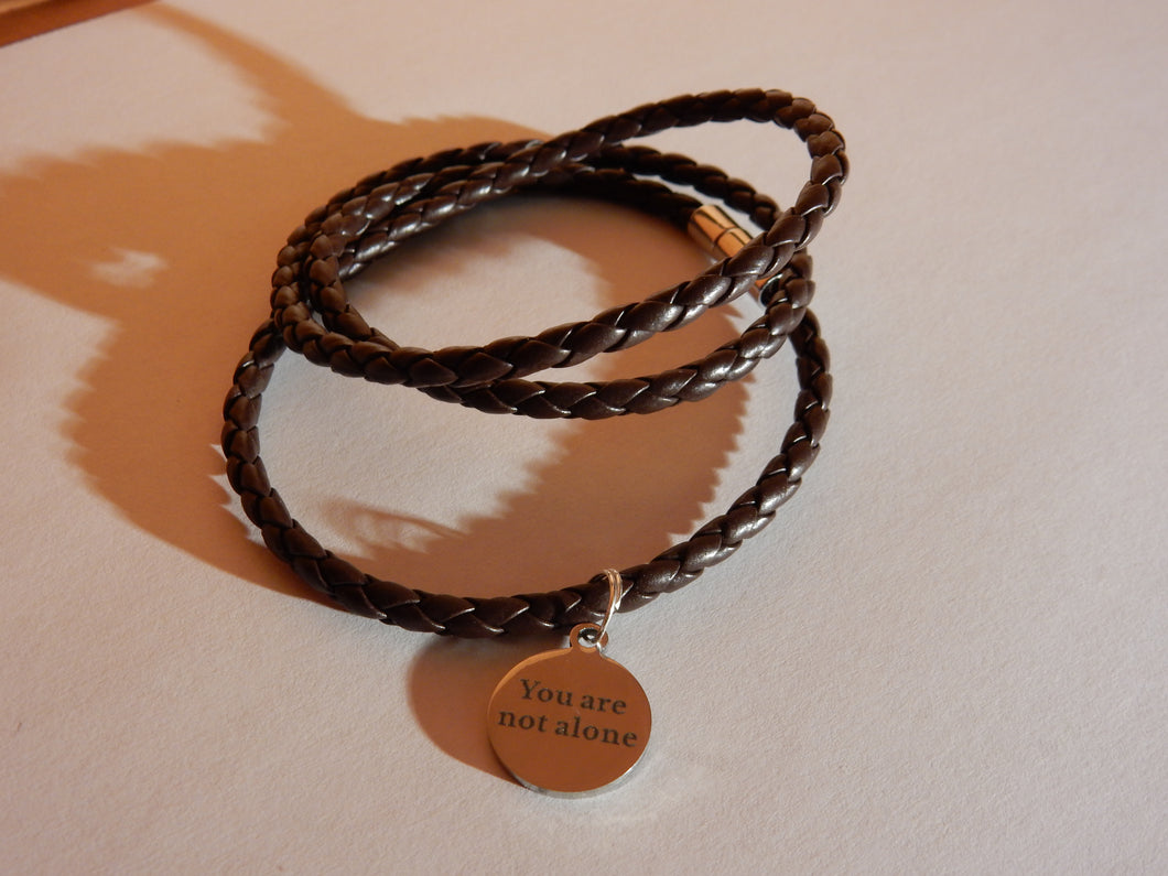 You Are Not Alone Bracelet - Sythetic Brown