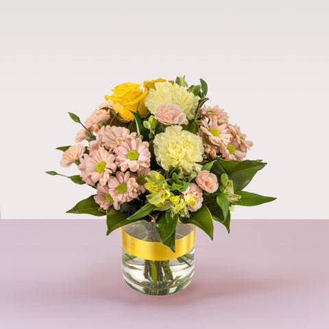 Golden Glow Flower Vase