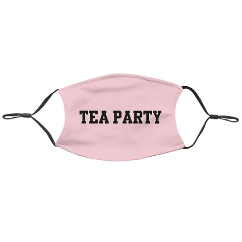 DAZ TEA PARTY TEXT LOGO PINK MASK