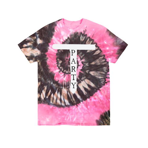 SPIRAL T-PARTY LOGO PINK CHARCOAL T-SHIRT