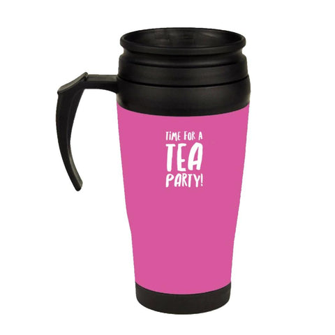 IT'S A TEA PARTY PINK TRAVEL MUG