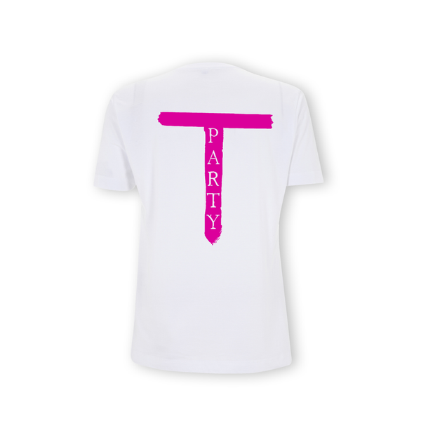 T Party' White T-Shirt
