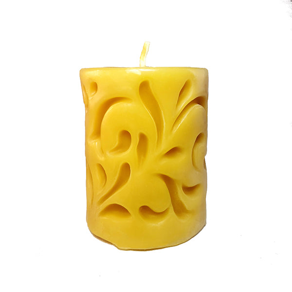 "Beeswax Decorative Vine Pillar ~ 3""x3.75"""