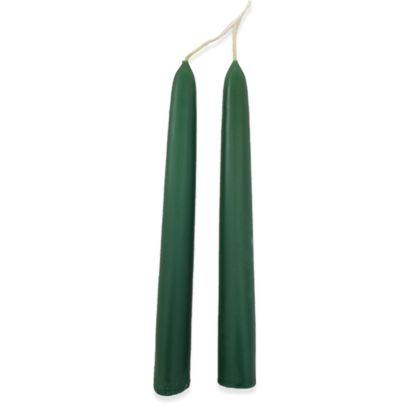"Green Beeswax Tapers - 7/8"" x 8"""