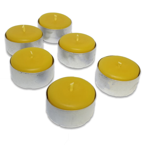Beeswax Tealight Large ~ Metal Cups ~ 25 or 50 pack