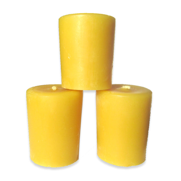 Pure Beeswax Votive Canada Candle - 3 Pack of Votives