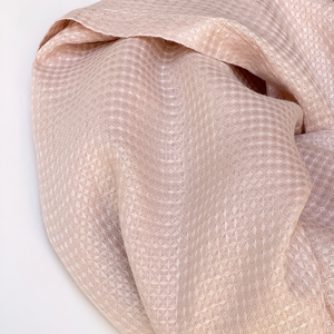 100% Linen Blanket In Light Pink