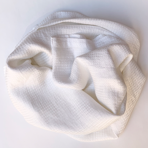 100% Linen Blanket In White
