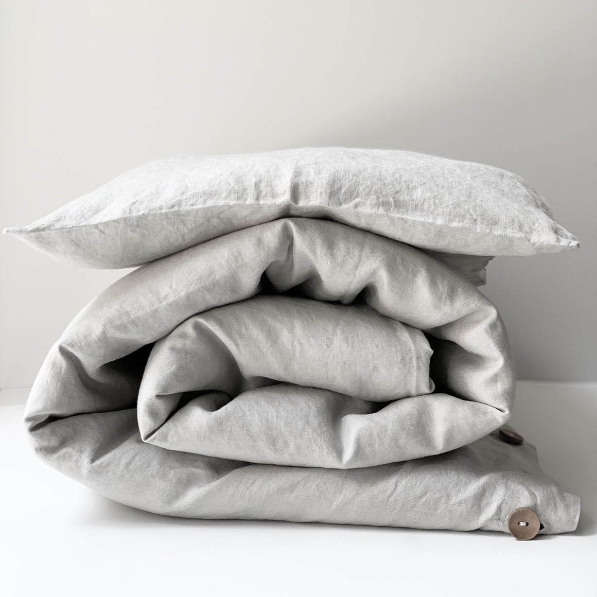 Toddler Duvet Cover Set In Soft Grey