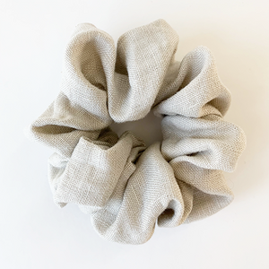 Puffy Linen Scrunchie - Natural
