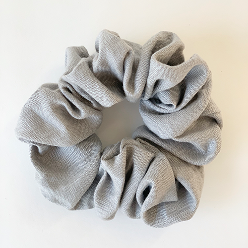 Puffy Linen Scrunchie - Cloud
