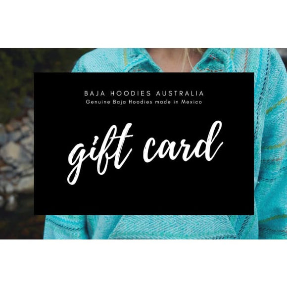 Gift Card gift cards, certificate, vouchers Baja Hoodies