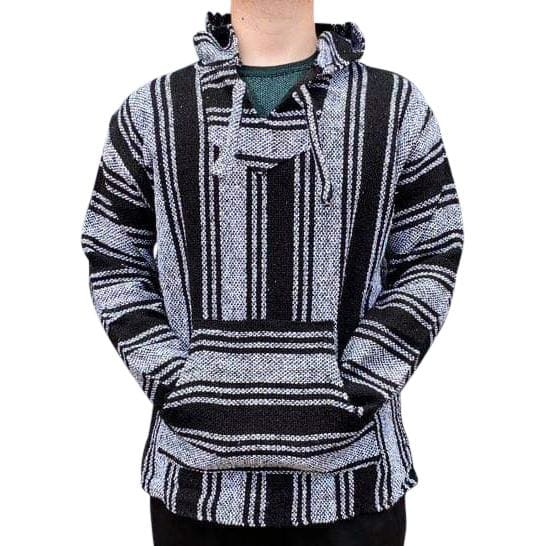 Mexican Surfer Baja Hoodie Black & White baja hoodies,