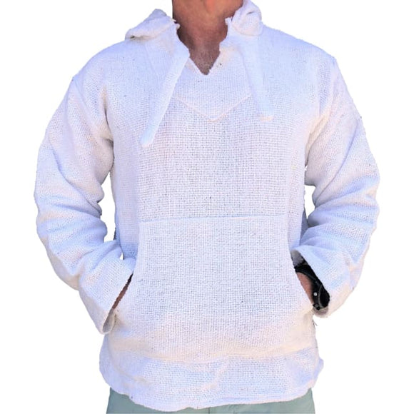 Mexican Surfer Baja Hoodie Ghost White baja hoodies,
